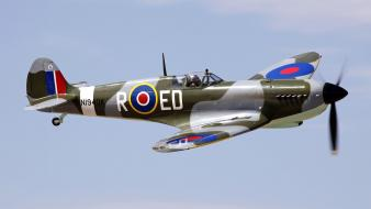 Airplanes warbird supermarine spitfire wallpaper