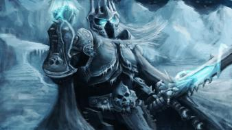 Armor magic skeletons blizzard entertainment swords game wallpaper