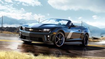 Black cars chevrolet camaro wallpaper