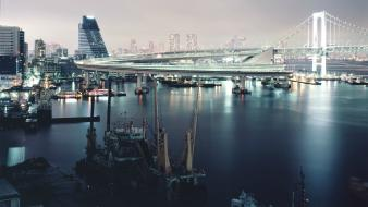 Bridges cities docks wallpaper