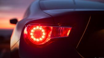 Close-up lights twilight cars races toyota gt86 wallpaper