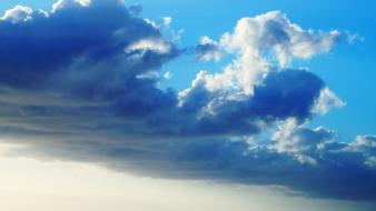 Clouds sunlight nuts strong skies sea wallpaper