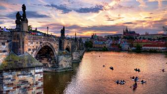 Czech republic statues kayak skies man made wallpaper