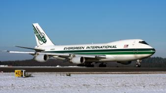 Evergreen boeing 747 aerial tanker water bomber wallpaper