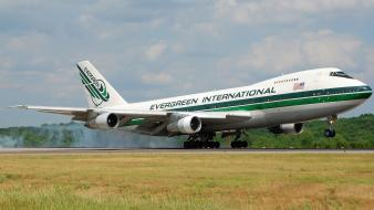 Firefighter evergreen boeing 747 aerial tanker water bomber wallpaper