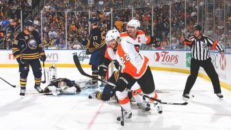 Flyers buffalo sabres luke schenn mike richards wallpaper