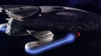 Futuristic star trek spaceships science fiction shows wallpaper