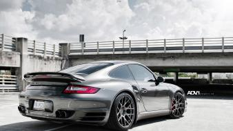 Grey turbocharged engine exotic taillights adv1 wheels wallpaper