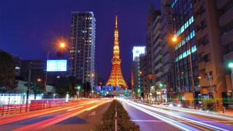 Japan tokyo cityscapes tower city night wallpaper