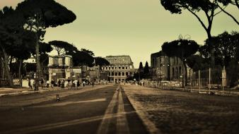Landscapes rim italy colosseum cities wallpaper