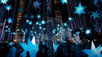 Lights stars holidays phillipines manila decorations bing wallpaper