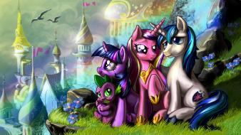 Magic canterlot harwicks princess cadence shining armor Wallpaper