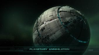 Metal science fiction planetary annihilation wallpaper