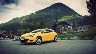 Mountains cars opel astra gtc wallpaper