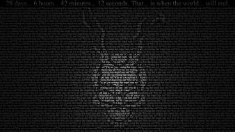 Movies typography donnie darko grayscale wallpaper
