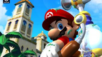 Nintendo mario gamecube super sunshine wallpaper