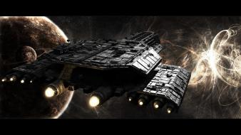 Planets stargate spaceships science fiction shows sci-fi wallpaper
