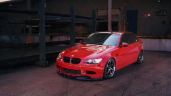 Red cars bmw m3 e90 Wallpaper