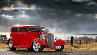 Red cars hot rod wallpaper