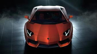 Red cars lambo lamborghini aventador lp700-4 wallpaper
