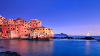 Rocks christmas trees italy villages bing sea wallpaper