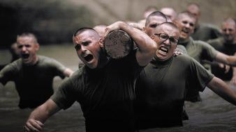 Soldiers military troops training wallpaper