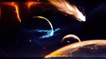 Stars planets comet space wallpaper