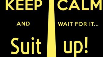Suit up black background keep calm wallpaper
