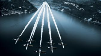 Switzerland breitling selective coloring formation flying Wallpaper