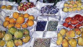 Traditional art still life gustave caillebotte impressionism wallpaper
