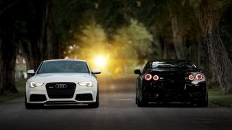 View vehicles audi rs5 front nissan gt-r wallpaper