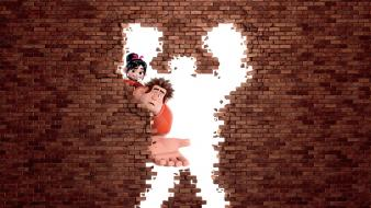 Wall animation bricks disney wreck it ralph Wallpaper