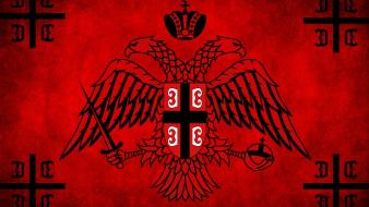 War brotherhood flags serbia ancient serbian orthodox cross wallpaper