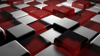 Abstract cgi shadows cubes digital art 3d Wallpaper