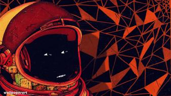 Abstract cosmonaut stefan lucut wallpaper
