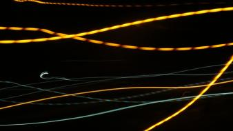 Abstract lights city effects slow shutter Wallpaper