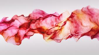 Abstract waves rainbows red light colors trapcode mir wallpaper