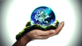 Anonymous freedom hands grass earth peace globe peaceful wallpaper