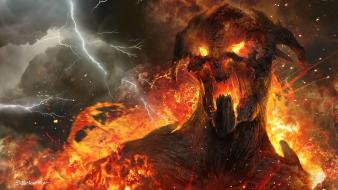 Art artwork lightning wrath of the titans wallpaper