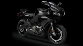 Black concept art motorbikes wallpaper