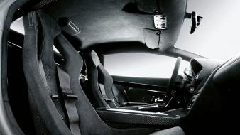 Cars lamborghini interior grayscale vehicles gallardo superleggera Wallpaper
