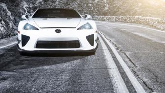 Cars lexus vehicles lfa front view wallpaper