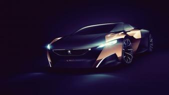 Dark cars concept peugeot onyx wallpaper