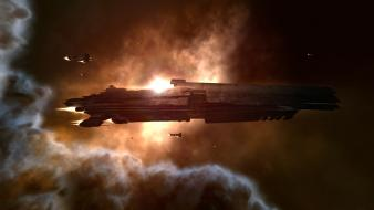 Eve online weapons spaceships battles game art Wallpaper