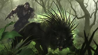Fantasy art artwork wolves Wallpaper