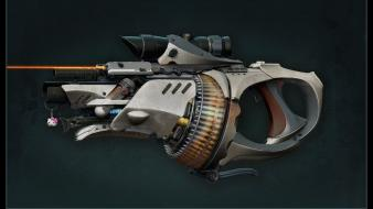 Guns futuristic weapons science fiction wallpaper