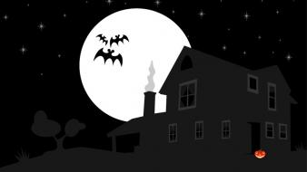 Halloween illustrations selective coloring bats wallpaper