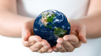 Hands earth technology engineering wallpaper