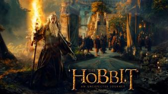 Ian mckellen martin freeman bilbo baggins rivendell wallpaper