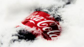 Ice red white bottles coca-cola celebration wallpaper